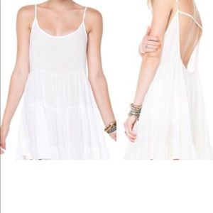 Brandy Melville boho jada white shear mini dress