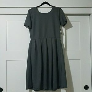 Lularoe Amelia dress - gray