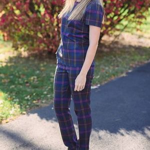 ISO Boden Plaid Shell and pants 8 or 10
