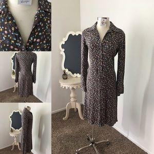 🎄Silk Print Dress By Diane Von Furstenberg 🎄