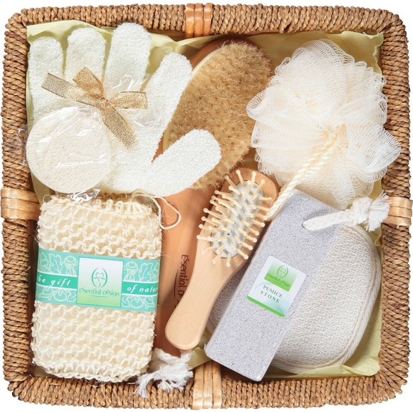 Makeup Essential Design Bath Gift Set With Wicker Basket Poshmark