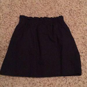 Navy Mini J Crew Skirt With POCKETS