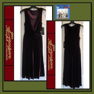 Lauren RL Velvet Faux-Wrap Sleeveless Mini Dress 4