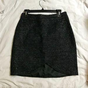 Black holiday skirt