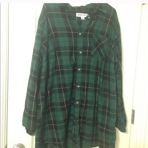 Dark Green Plaid Shirt