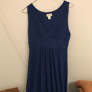 NWT Caslon Navy maxi dress Sz small