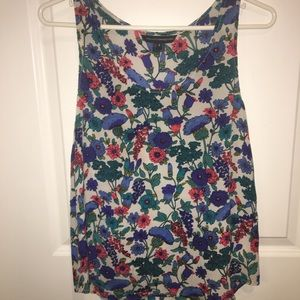 French Connection 100% silk floral top