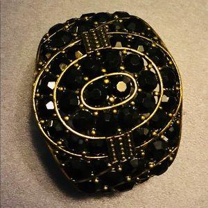 Statement Piece!! Black and gold, badass bracelet