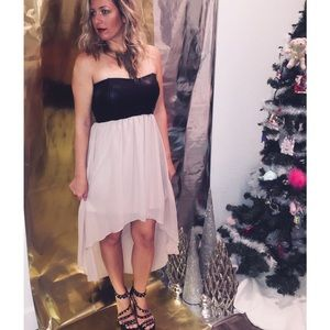 NYE party dress LOVE Culture strapless