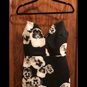 ASOS Peony plunge midi dress