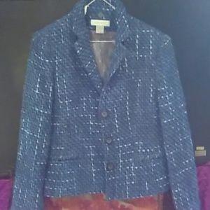 Nine West tweed still jacket wirh blue grey weave