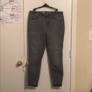 Light Grey Raw Hem Mossimo High Rise Jeans