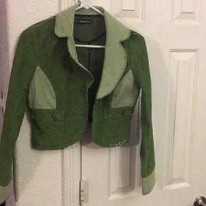 Bebe Green Corduroy Jacket Supercute Small