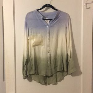Dip Dye Button Down Shirt