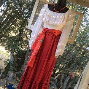 Vintage 1960-70 Gypsy Costume Christmas Dress S