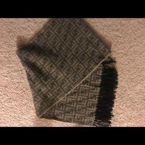 Authentic fendi wool scarf