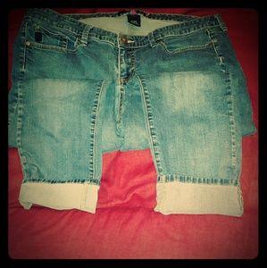 Torrid cropped boyfriend jeans