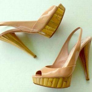 MIU MIU Bamboo Slingback Heel