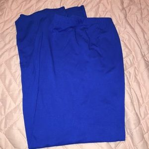 Royal blue long maxi skirt