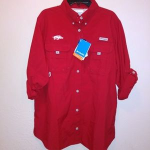 NWT Columbia PFG Arkansas Button Down