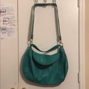 Turquoise Onna Ehrlich Fold Over Bag