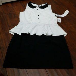 Peplium two tone dress.