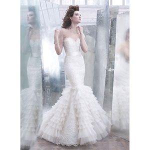 Lazaro Wedding Dress Size 10