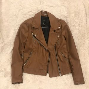 Brand new brown leather jacket!