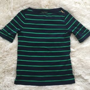 NEW Ralph Lauren Boatneck Zipper top small