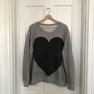 Madewell black heart sweatshirt