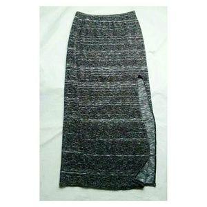 Material Girl Gray Knit Maxi Skirt