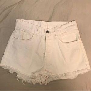 Brandy Melville White High Waisted Shorts