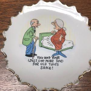 Vintage plate! Toooo cute!