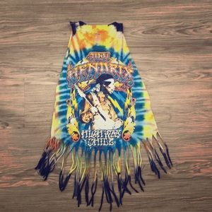 Tops - NWOT Crop Jimi Hendrix TIE DYE ❤️