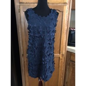 NWT H&M Blue Flower Shift Dress Size Small
