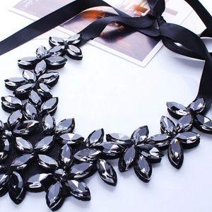 Jewelry - Black Ribbon Bib Necklace