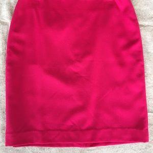 Talbot hot pink wool pencil skirt