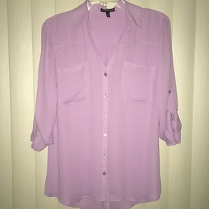 NEW Express 3/4 sleeve button down blouse