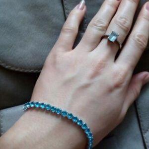 Jewelry - Aquamarine Cubic zirconium bracelet