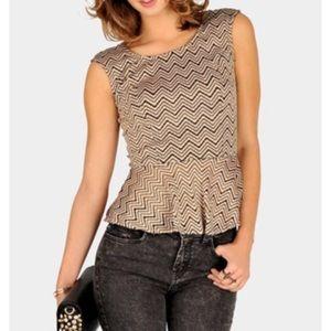 Necessary clothing Peplum Top