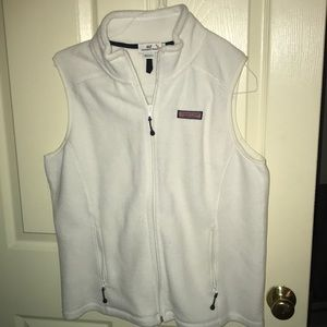 White Vineyard Vines Fleece Vest