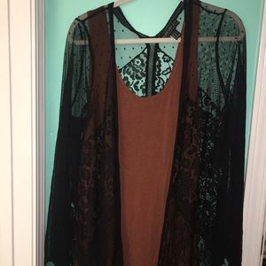 Forever 21 + PLUS Lace long cardigan