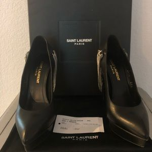 Ysl chained pumps