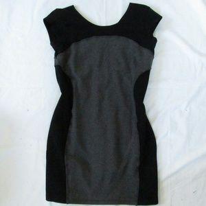 Athleta black and gray dress large petite