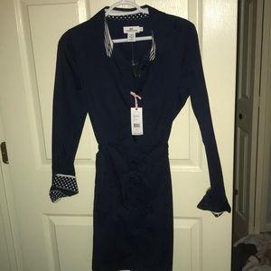 Navy Blue Vineyard Vines  Shirtdress