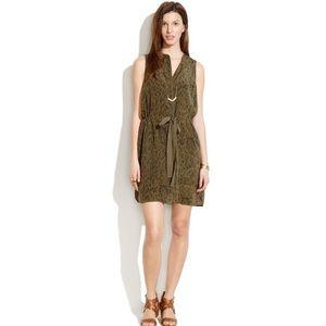 Madewell 100% Silk Playa Dress in Leopard Fade S