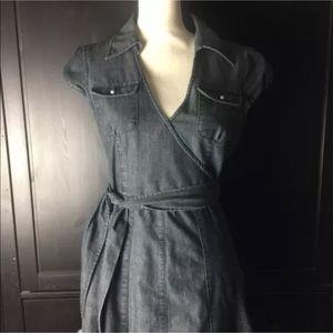 American Rag Denim Wrap Dress