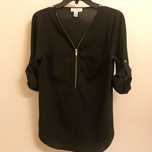 Like New! Calvin Klein Zip up Blouse
