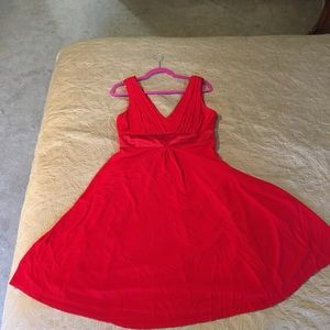 Knockout Kay Unger Red Cocktail Dress