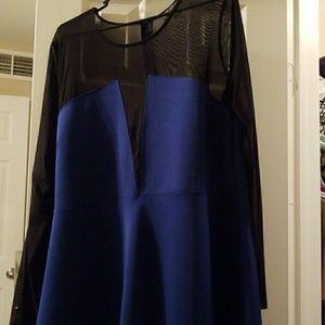 Sheer black and navy blue forever21 dress